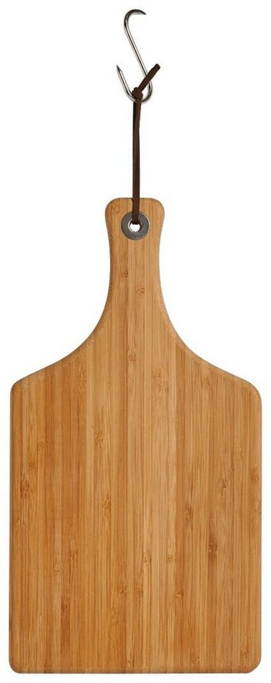 Schneide-/Servierbrett »Bamboo« mit Griff, Breite 37,5 cm in braun
