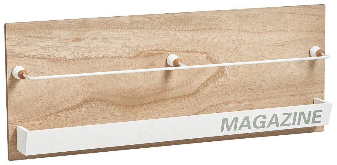Magazinhalter »Nordic, 2 Fächer, 64x7,5x25 cm, zum aufhängen«