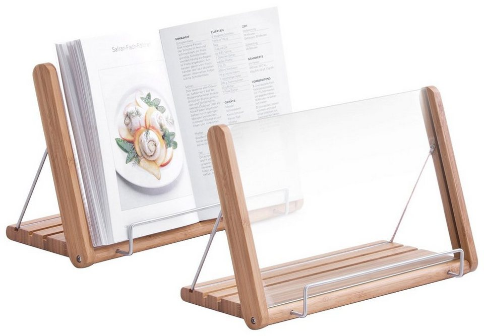 Buchständer »Bamboo« in braun / holzoptik