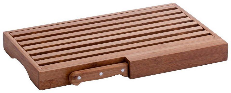 Brotschneidebrett »Bamboo« mit Messer, Breite 39,5 cm in braun