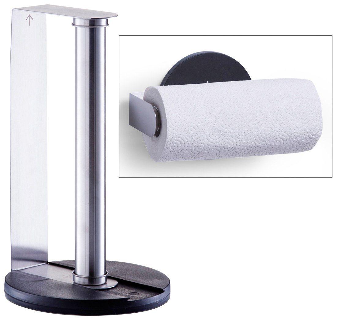 Küchenrollenhalter, Edelstahl/Kunststoff