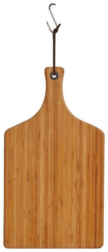 Schneide-/Servierbrett »Bamboo« mit Griff, Breite 45 cm in braun