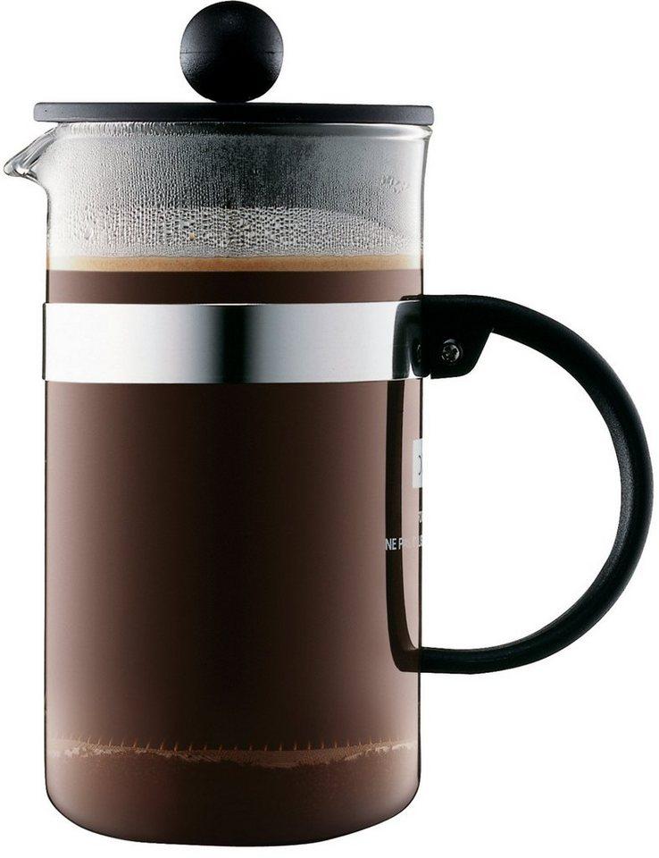 bodum® Kaffeebereiter, »BISTRO NOUVEAU« in transparent/schwarz/silberfarben