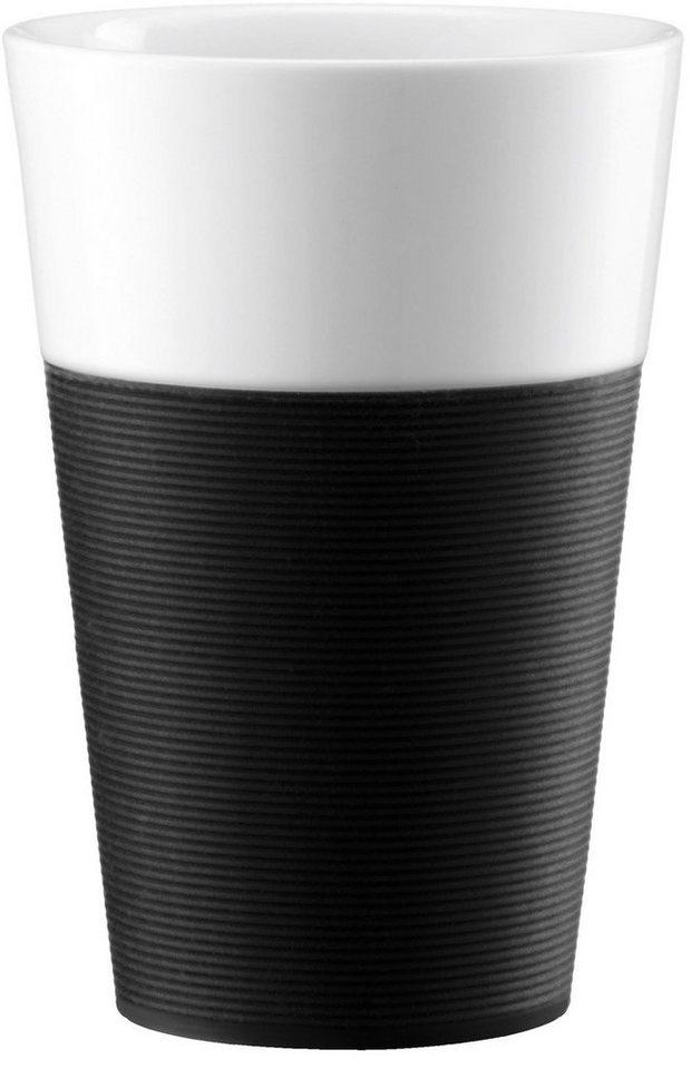 bodum® Tasse, 2 Stück, Porzellan, »BISTRO« in schwarz
