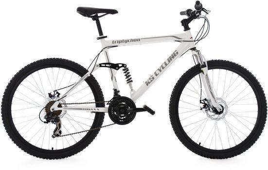 KS Cycling Mountainbike »Triptychon«, 21 Gang Shimano Tourney Schaltwerk, Kettenschaltung
