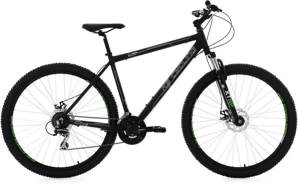 KS Cycling Herren Hardtail-Mountainbike, 29 Zoll, 24 Gang-Kettenschaltung, schwarz, »Xceed« in schwarz