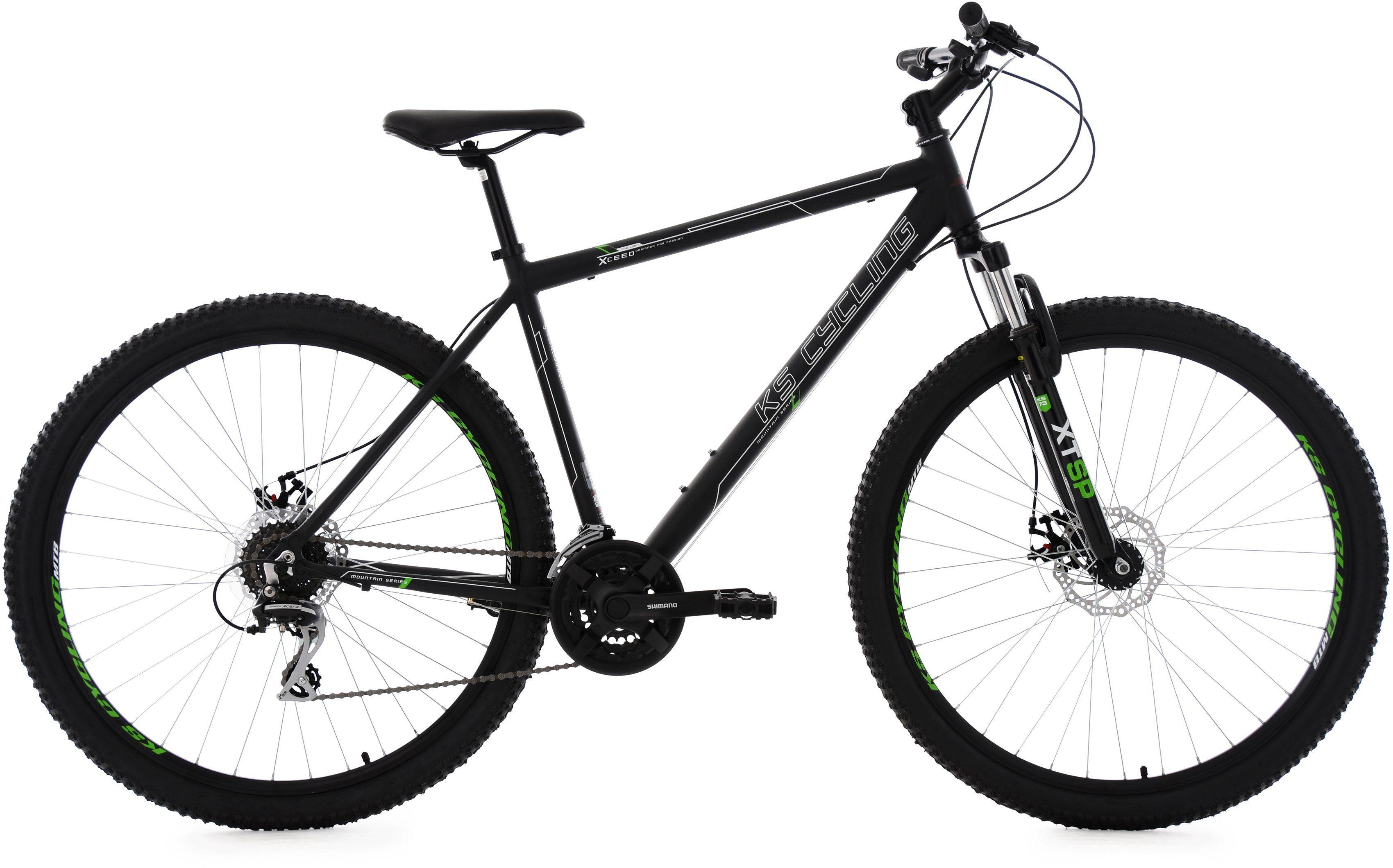 KS Cycling Herren Hardtail-Mountainbike, 29 Zoll, 24 Gang-Kettenschaltung, schwarz, »Xceed«