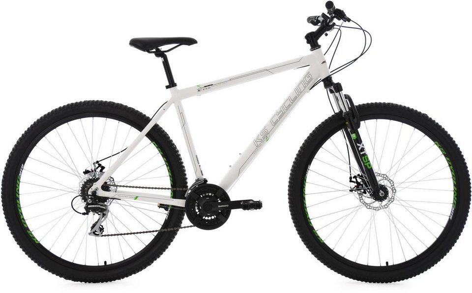 KS Cycling Herren Hardtail-Mountainbike, 29 Zoll, 24 Gang-Kettenschaltung, weiß, »Xceed« in weiß
