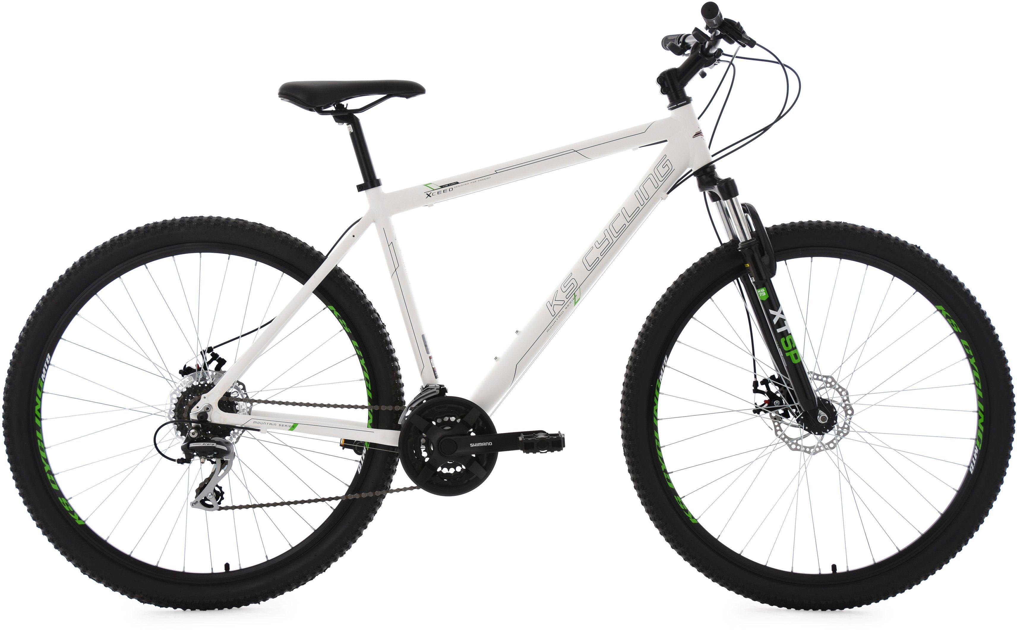 KS Cycling Herren Hardtail-Mountainbike, 29 Zoll, 24 Gang-Kettenschaltung, weiß, »Xceed«