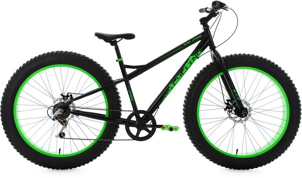 ks cycling herren fatbike mountainbike 26 zoll 6 gang. Black Bedroom Furniture Sets. Home Design Ideas