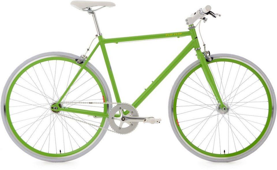 KS Cycling Fitnessrad, 28 Zoll, grün-weiß, »Flip Flop« in grün