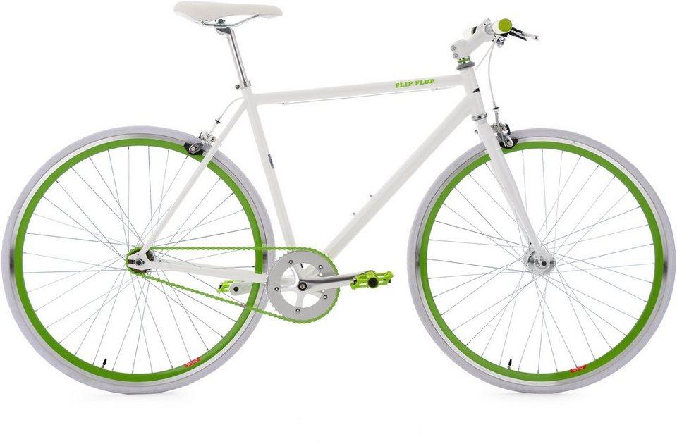 KS Cycling Fitnessrad, 28 Zoll, weiß-grün, »Flip Flop« in weiß
