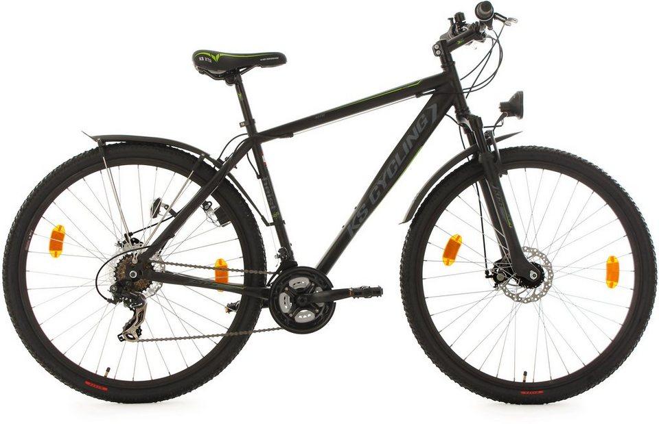 KS Cycling Hardtail-ATB, 29 Zoll, 21 Gang-Shimano Tourney Kettenschaltung, schwarz, »Heist« in schwarz