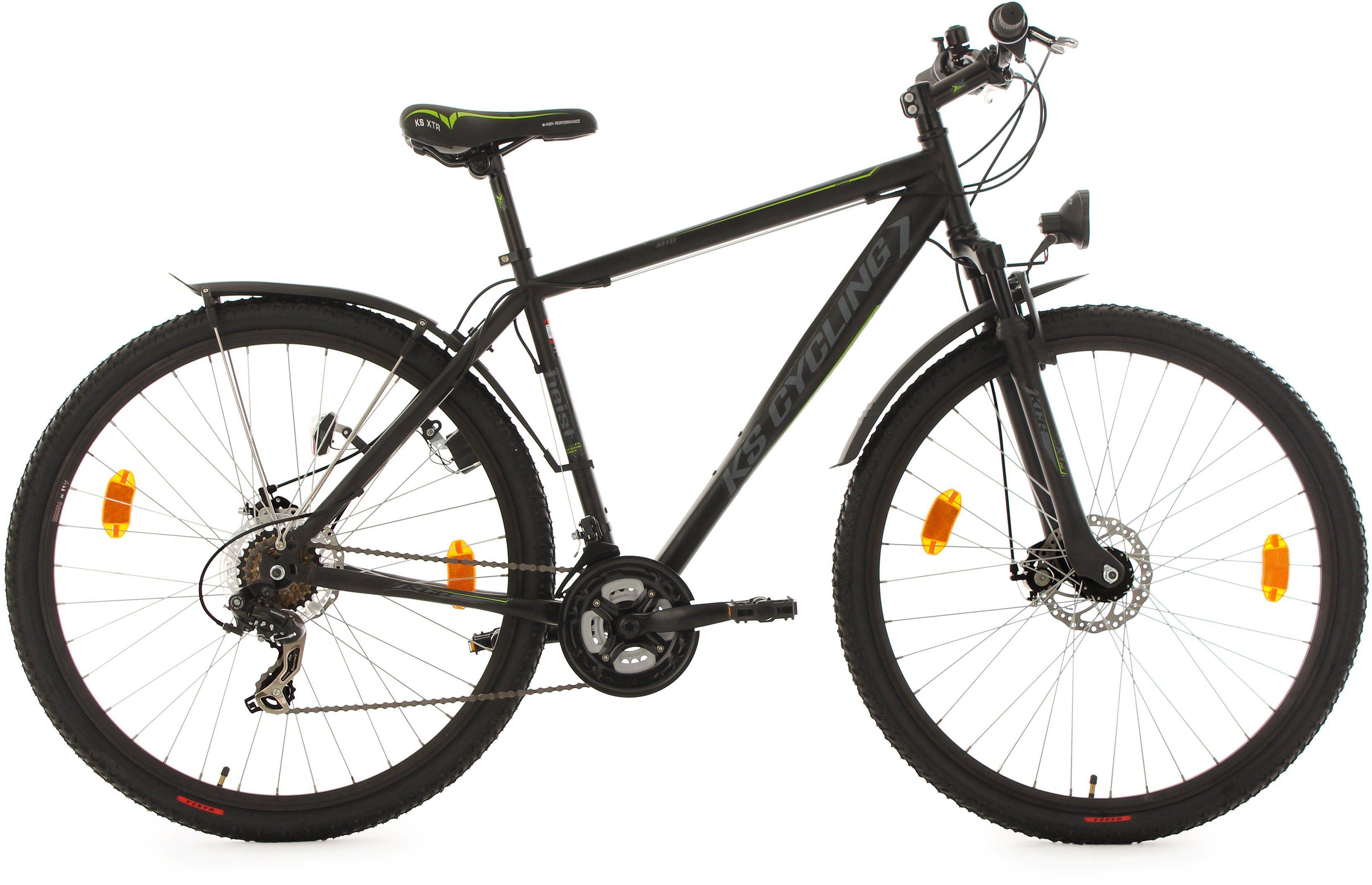 KS Cycling Hardtail-ATB, 29 Zoll, 21 Gang-Shimano Tourney Kettenschaltung, schwarz, »Heist«