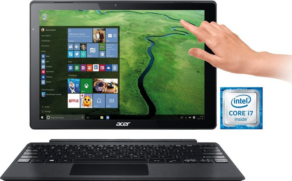 Acer Switch Alpha 12 SA5-271-70EQ Convertible Notebook, Intel® Core™ i7, 30,5 cm (12 Zoll) in silberfarben