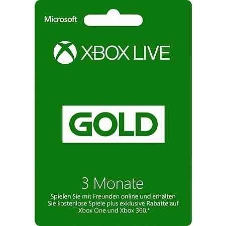 Xbox One Xbox Live Goldmitgliedschaft 3 Monate 3 Monate Mitgliedskarte
