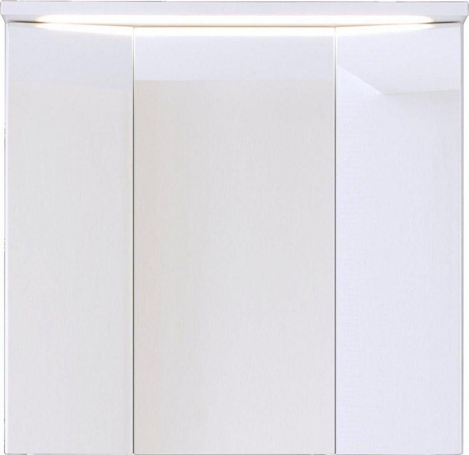 Welltime Spiegelschrank »Adamo« mit LED-Beleuchtung in weiß