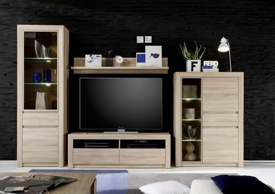 wohnwand sevilla 4 tlg online kaufen otto. Black Bedroom Furniture Sets. Home Design Ideas
