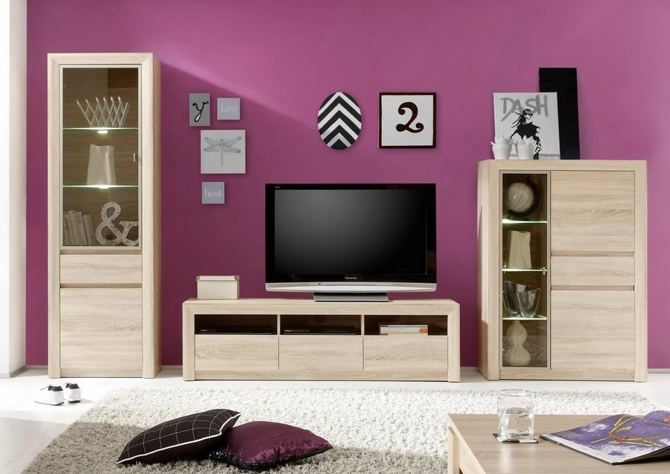 wohnwand sevilla 3 tlg online kaufen otto. Black Bedroom Furniture Sets. Home Design Ideas