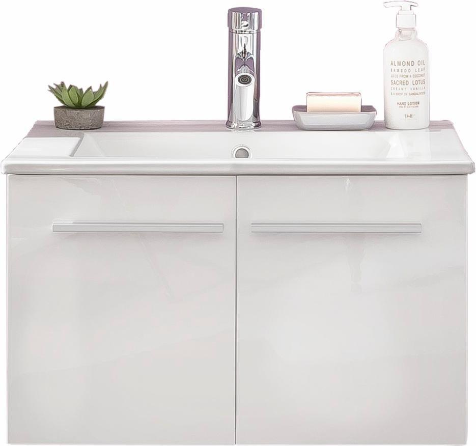Welltime Waschbeckenunterschrank »TTB« in weiß/weiß Hochglanz