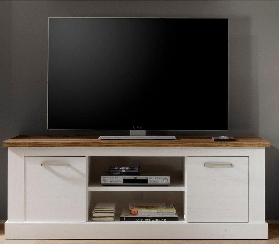 Lowboard, Breite 160 cm in piniefarben weiß