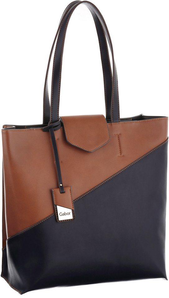 Gabor Shopper »FRIDA« im Farbmix in cognac-blau