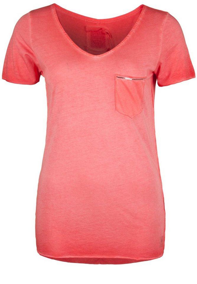 Better Rich T-Shirt »V-NECK T-SHIRT PAILLETTE« in scarlet red