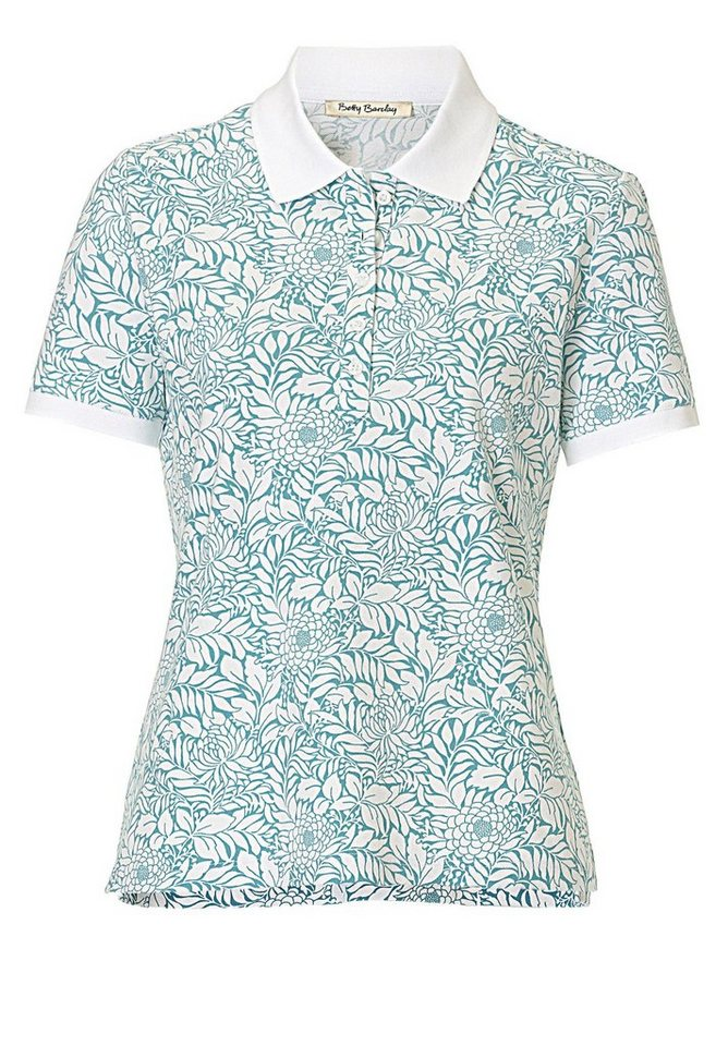 Betty Barclay Poloshirt in Green/White - Bunt