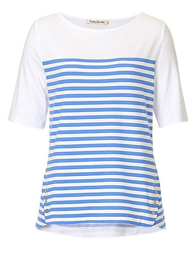 Betty Barclay Shirt in Weiß/Blau - Weiß