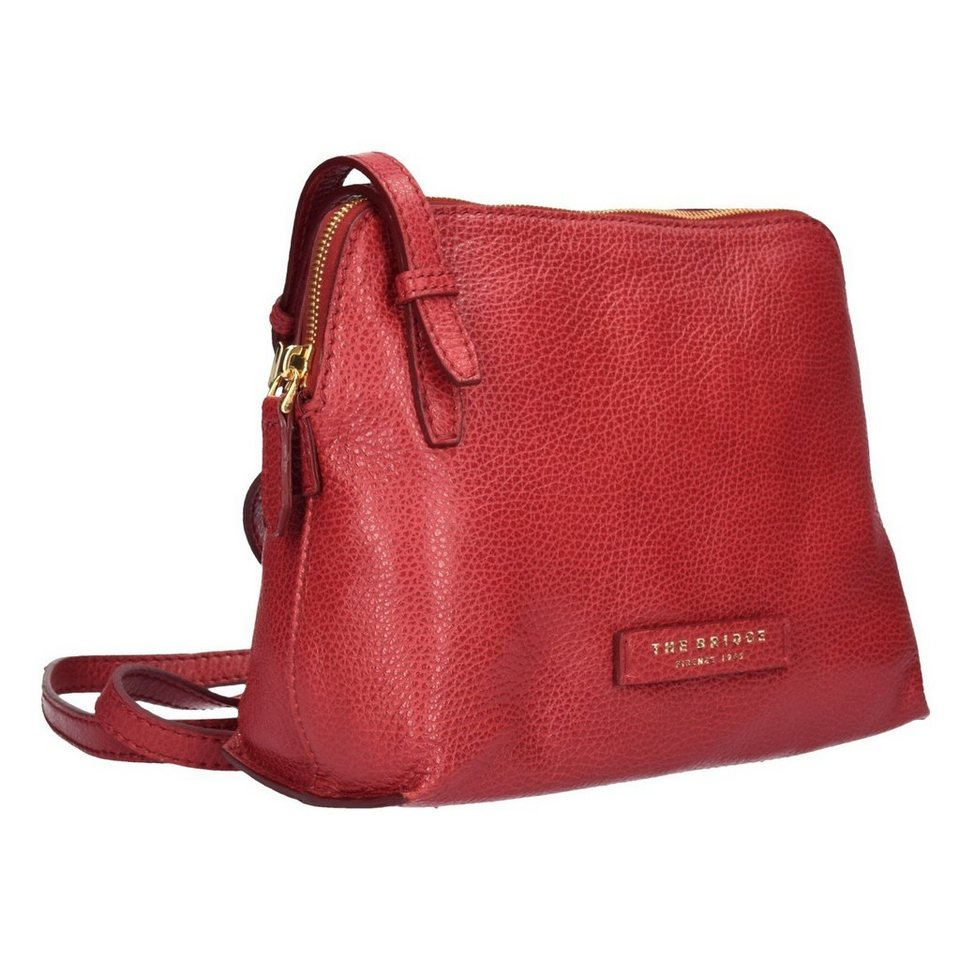 The Bridge Plume Soft Donna Umhängetasche Leder 26 cm in rosso ribes