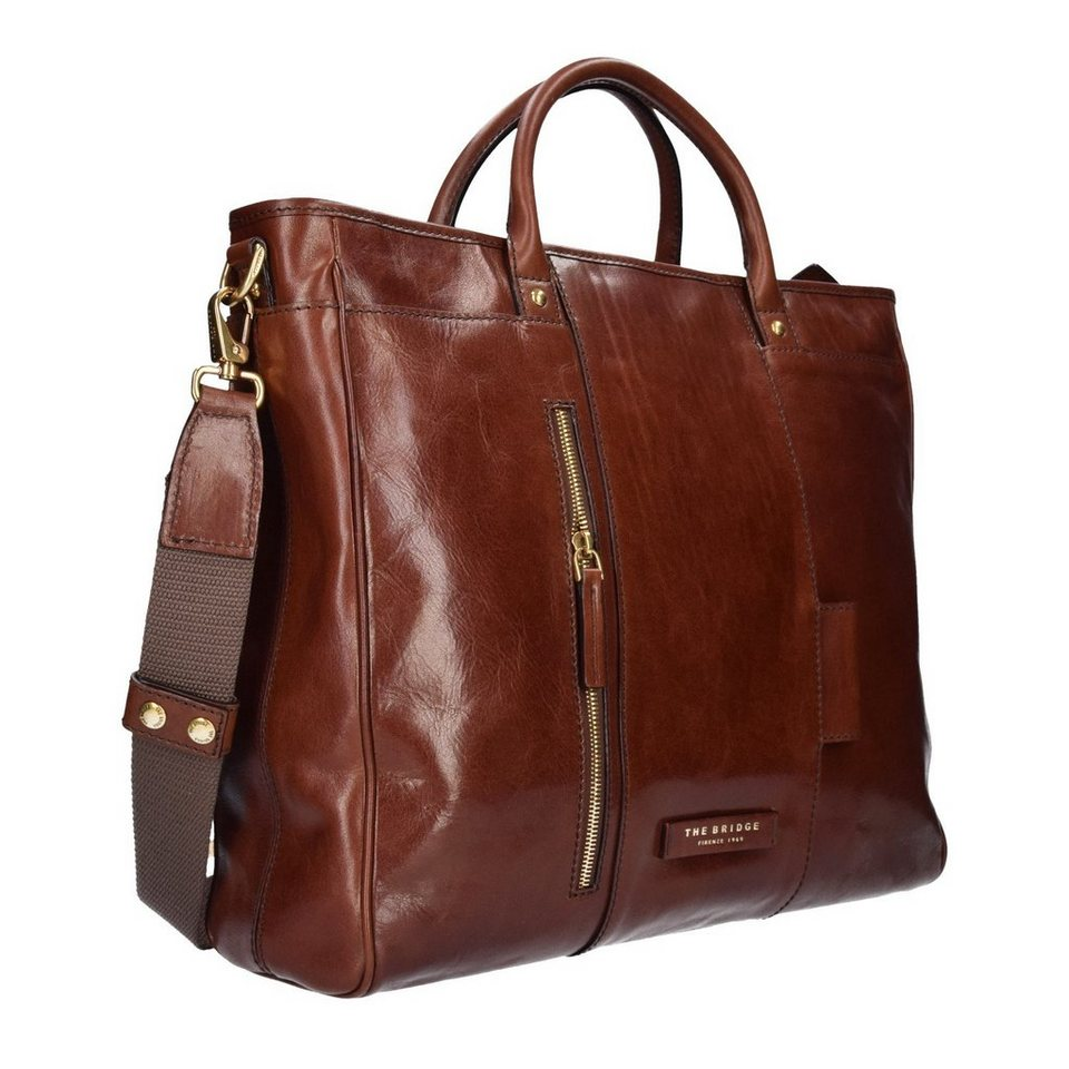 The Bridge Passpartout Shopper Tasche Leder 43 cm in marrone