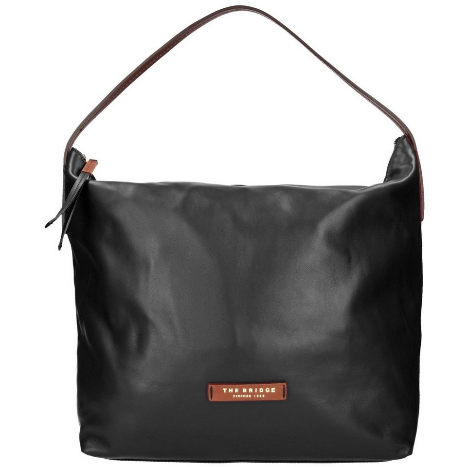 The Bridge Calypso Shopper Tasche Leder 38 cm in nero-goldfarben