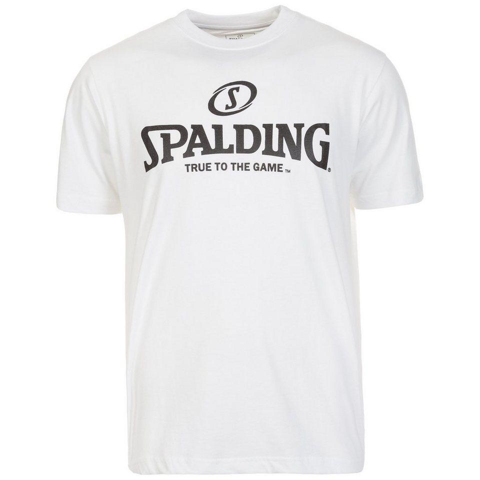 SPALDING Logo T-Shirt Herren in weiß