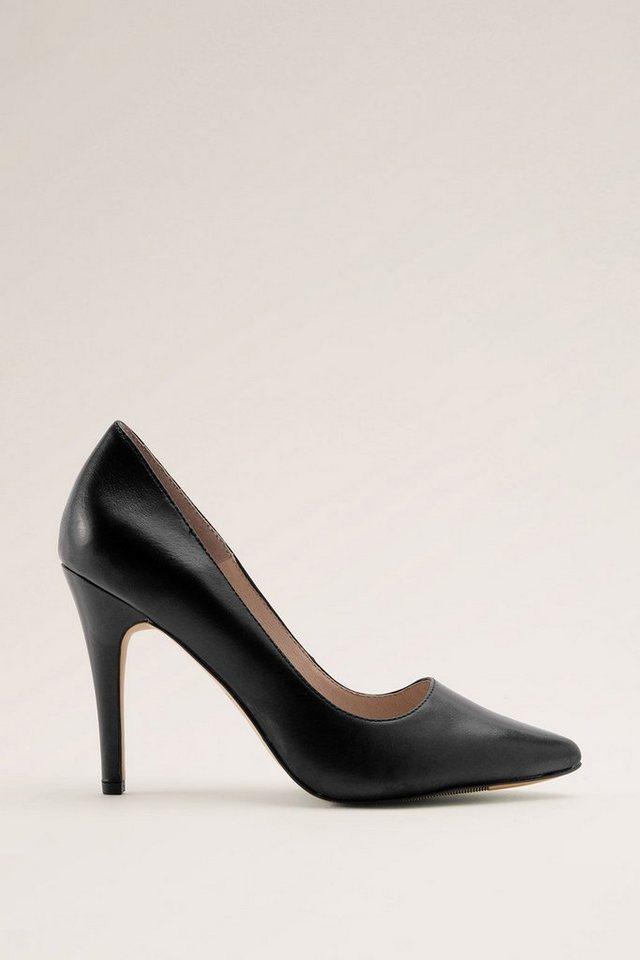 ESPRIT CASUAL Leder Fashion Pumps in BLACK