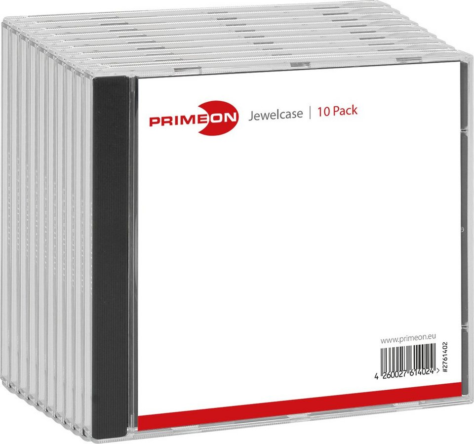 PRIMEON Jewelcase Box für 1 Disc (10-Pack) in black