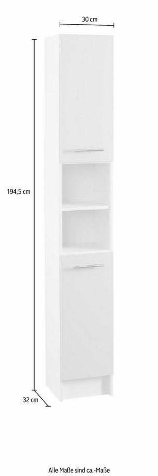 Hochschrank, Schildmeyer, »Sellin«, Breite 30 cm, mit Türen Anschlagdämpfern