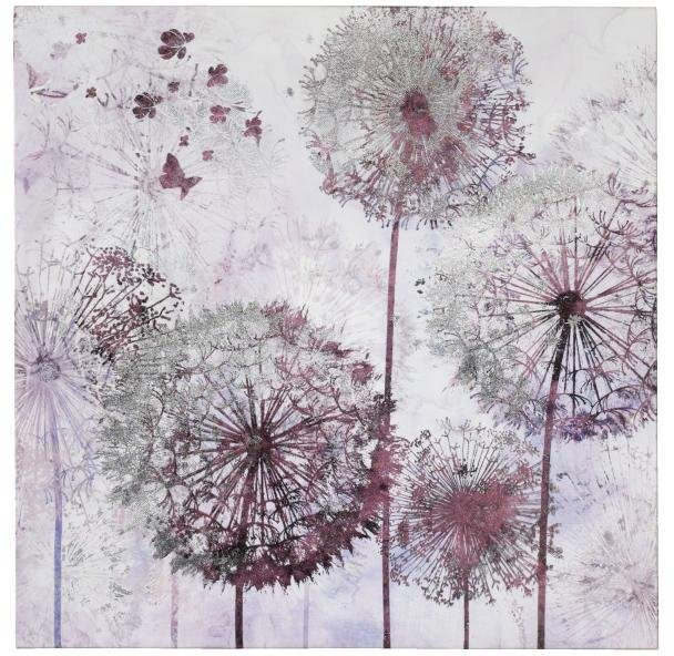 Home affaire Bild »Pusteblume«, 60/60 cm in lila
