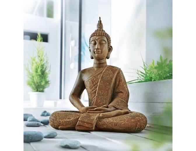 Home affaire Dekofigur »Buddha Silent«, mit Rostfinish