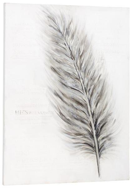 Home affaire Bild »Feather«, 90/120 cm in grau