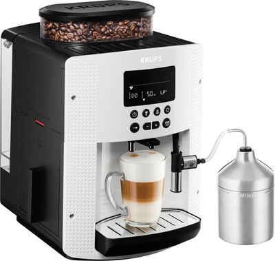 Krups Kaffeevollautomat EA8161, inkl. Edelstahl-Milchbehälter, 3 Temperaturstufen und 3 Mahlgrade