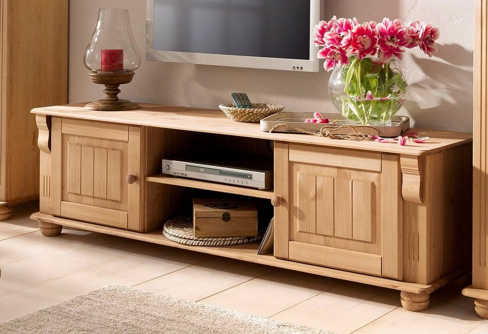 Home affaire Lowboard »Adele«, Breite 160 cm in gelaugt/geölt