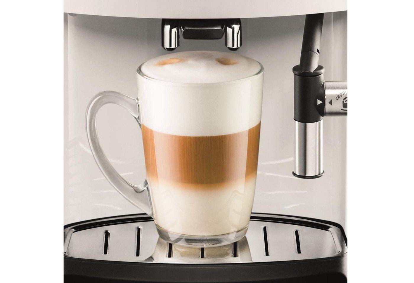 Krups Kaffeevollautomat EA8161, 1,8l Tank, Kegelmahlwerk, inkl. Edelstahl-Milchbehälter