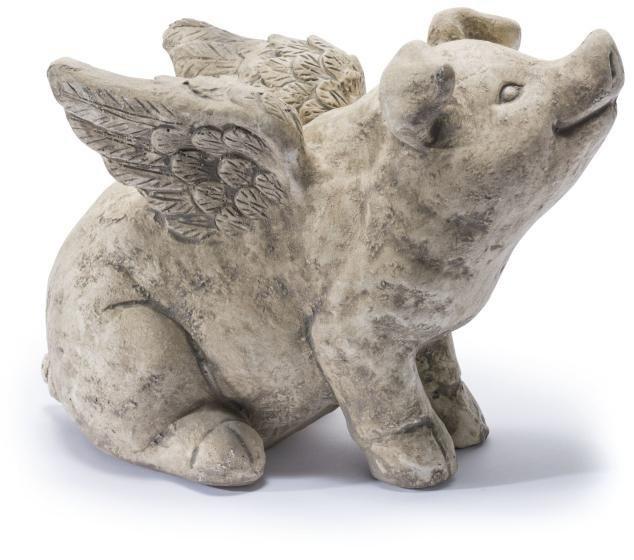 Home affaire Dekofigur »Schwein mit Flügeln«, Höhe 29 cm in natur