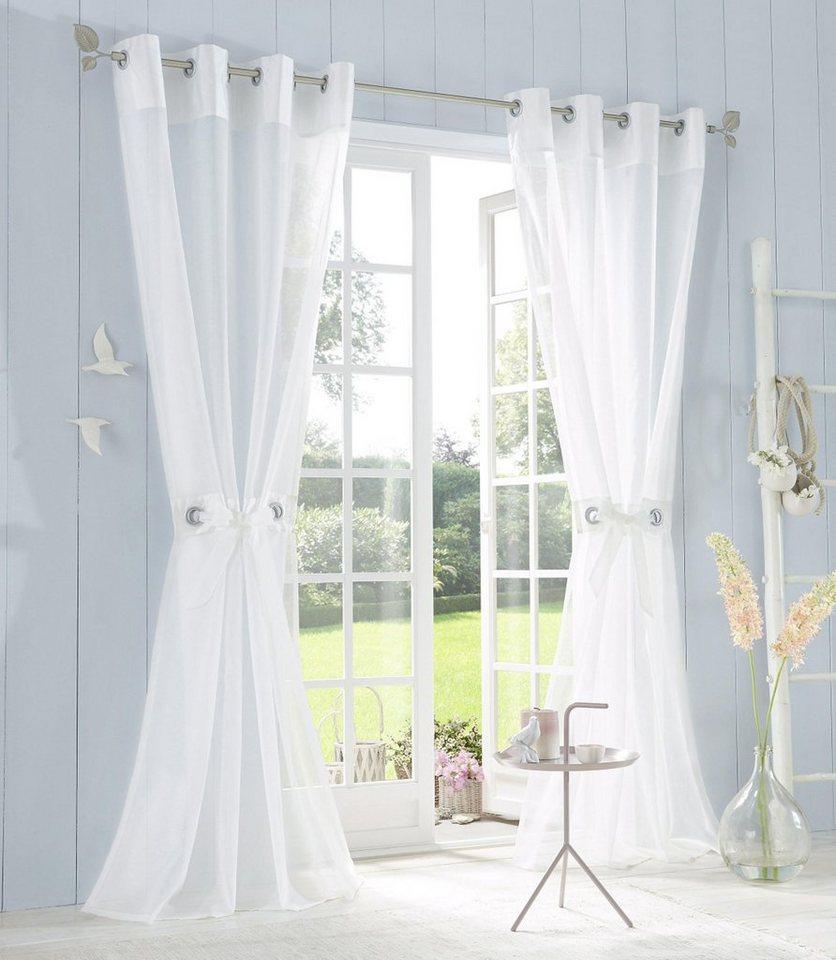 Gardine »Willow«, My Home, Ösen (1 Stück), Inkl