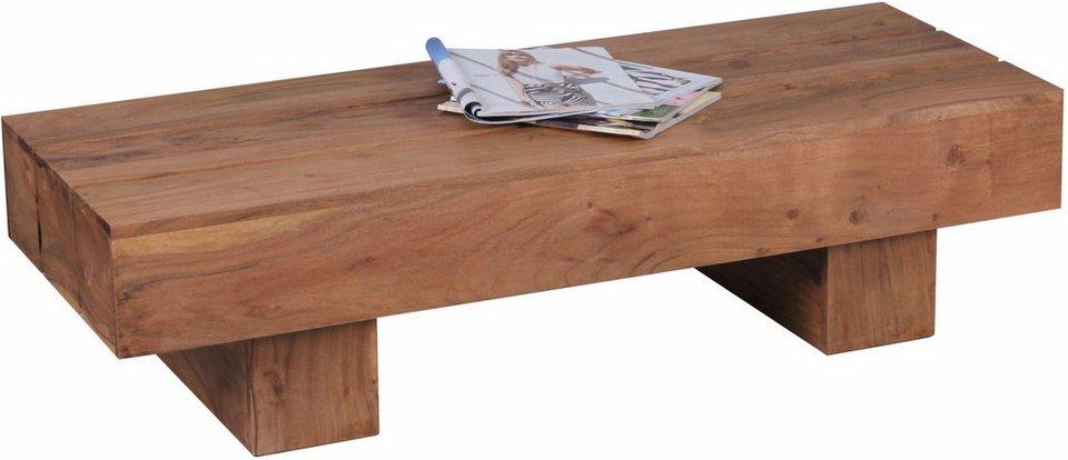 Home affaire Couchtisch »Geta«, aus massivem Akazienholz in braun