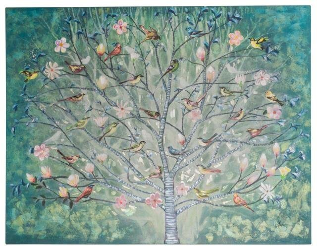 Home affaire Bild »Tree« Acyl auf Leinwand, 120/90 cm in bunt