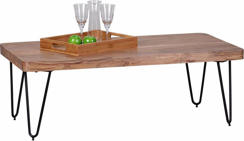 Home affaire Couchtisch »SURYA«, mit Massivholz-Tischplatte in Akazie
