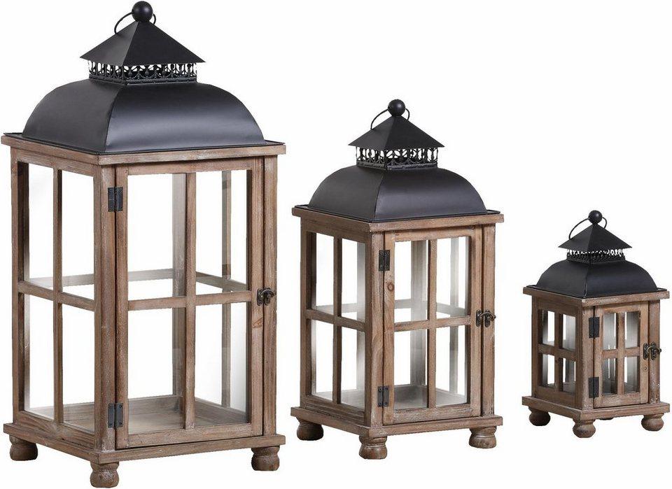 gutmann factory laternen im 3er set h he 74 57 und 37 cm online kaufen otto. Black Bedroom Furniture Sets. Home Design Ideas