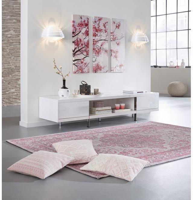 Home affaire 3-teiliges Bild »Kirschblüte«, 90/90 cm in rosa