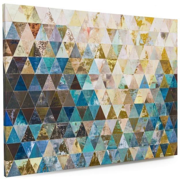 Home affaire Bild »Dreiecke«, 120/90 cm in blau